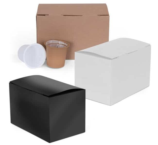 Coffee pods and Display Boxes